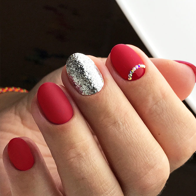 Matte Red Nails for a Classy Look Picture 3