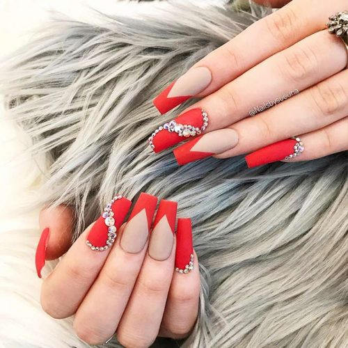 Matte Red Nails for a Classy Look Picture 1