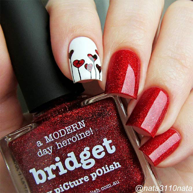 Hot Red Nail Designs for Unforgettable Look Picture 2
