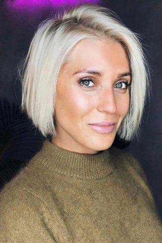 Short Bob Haircut for Rectangle Face Shapes