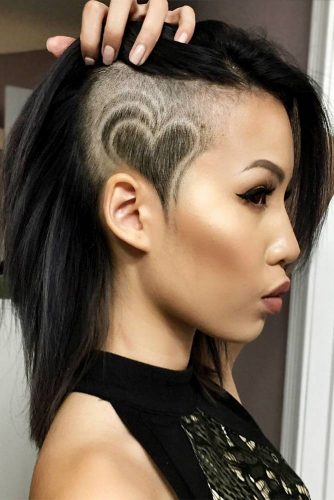 Cute Colorful Undercut Ideas with Hair Tattoos Picture 5