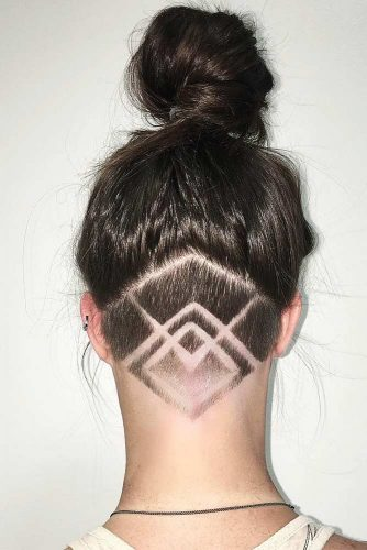 Cute Colorful Undercut Ideas with Hair Tattoos Picture 4