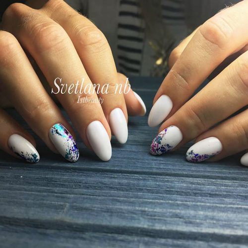 Foil Nail Designs for White Nails Picture 1