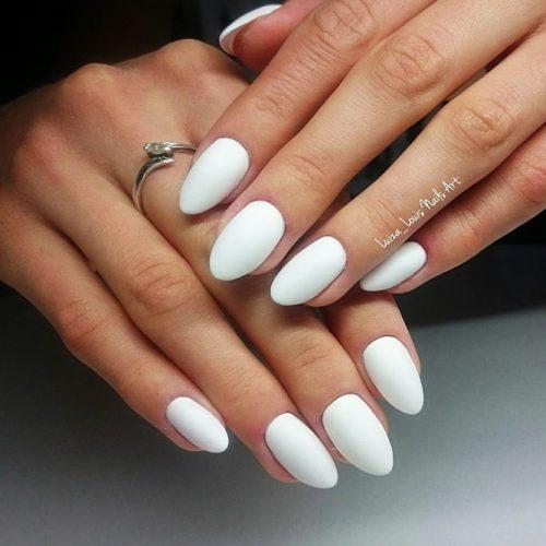 Matte White Nail Designs Picture 3