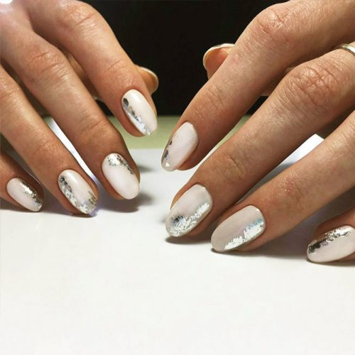 Foil Nail Designs for White Nails Picture 3