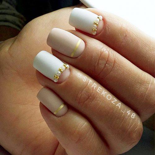 Matte White Nail Designs Picture 1