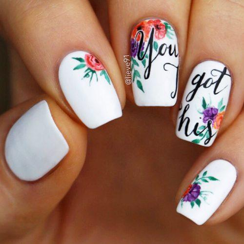 Matte White Nail Designs Picture 6