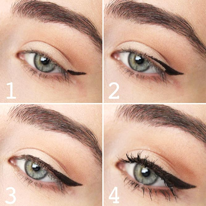 Winged Eyeliner Style for Downturned Eyes picture 2