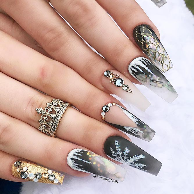 Acrylic Nails with Coffin Shape Picture 6