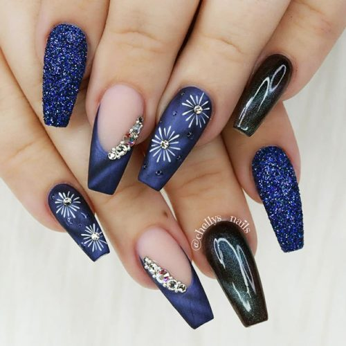 Acrylic Nails with Coffin Shape Picture 4