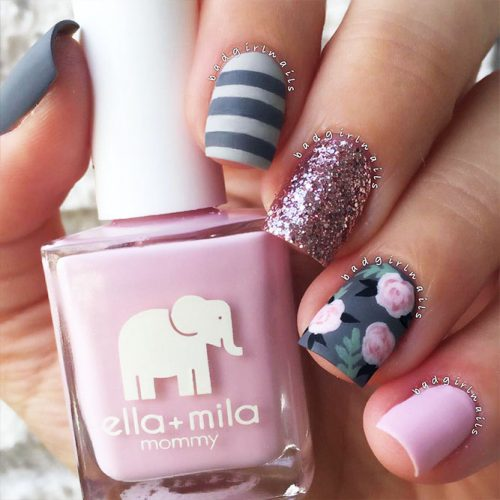 Square Shape Acrylic Nails Picture 4