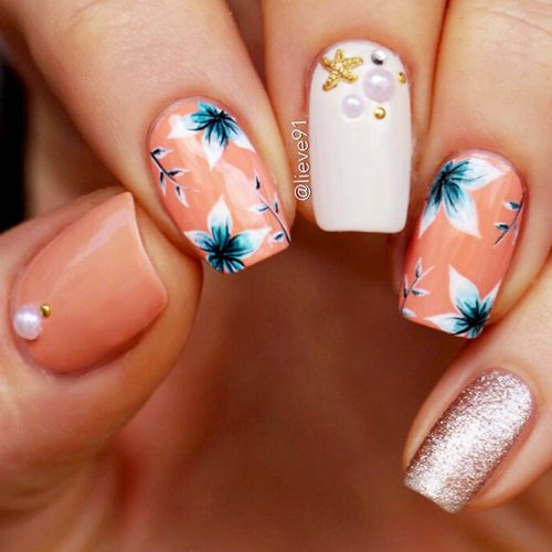 Square Shape Acrylic Nails Picture 1