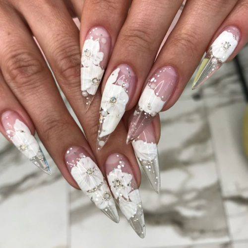 Stiletto Acrylic Nail Design