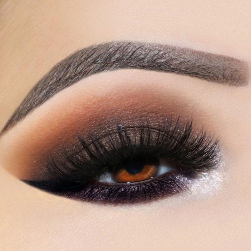 Black Smokey Eyes Makeup For Amber Eyes #smokeyeyes