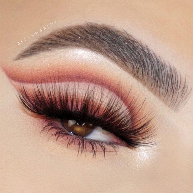 Brown Cut Crease Makeup #matteeyeshadow #cutcrease
