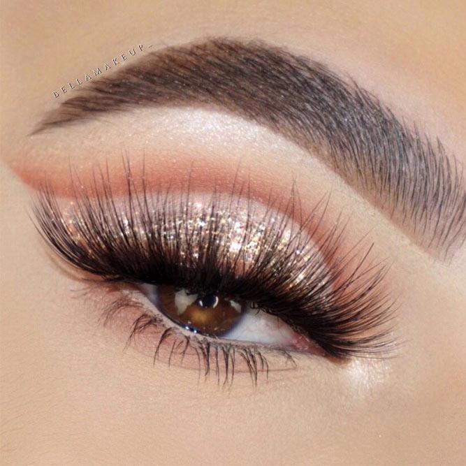 Glitter Cut Crease Makeup Idea #cutcrease