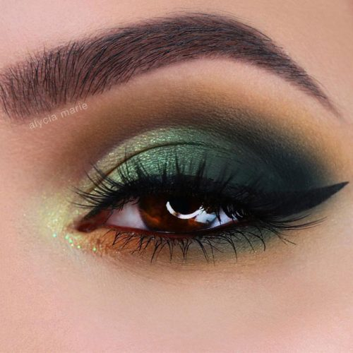 Green Smokey Eyes Makeup Idea #greensmokey