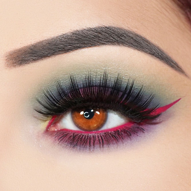 Bright Pigment Eyeliner Accent #coloredeyeliner #matteeyeshadow