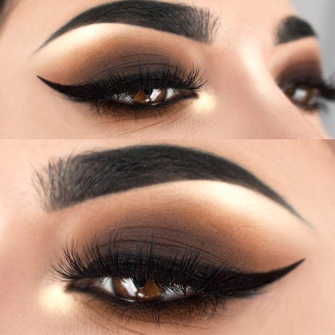 Black Smokey Eyes Look For Amber Eyes #blacksmokey #matteyeshadow