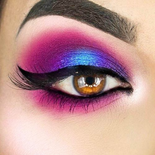 Smokey Eyes Makeup For Girls With Amber Eye Colors picture 3