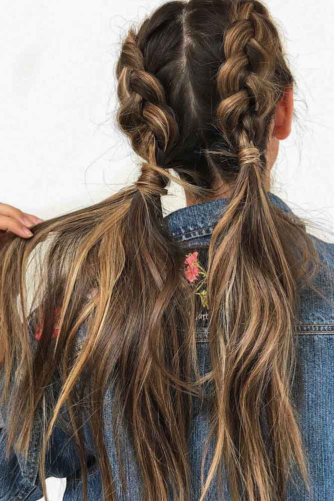 Braided Hairstyle With Balayage #braidswithbalayage