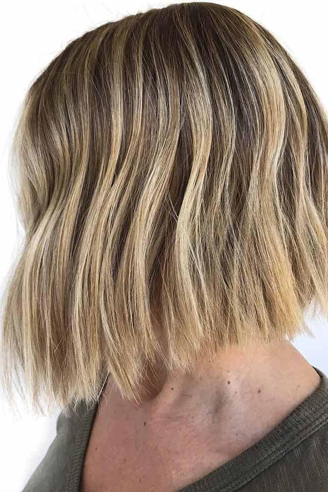 Short Bob Haircut With Balayage #balayagehair
