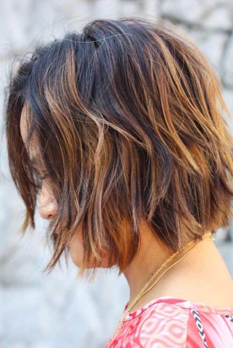 Layered Bob Haircut With Balayage #balayagehair