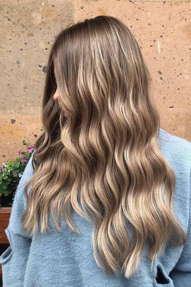 Long Glossy Brown Balayage Hair #glossyhair #perfecthair