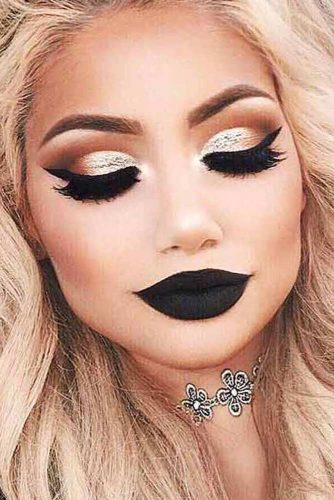 Glam Makeup Ideas with Black Lipstick picture 1