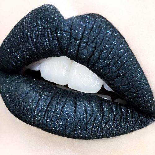 Black Lipstick with Festive Accent picture 1