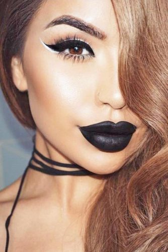 Soft Eyes with Bold Lips Makeup Looks picture 3