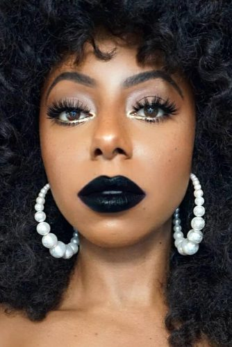 How To Wear Black Lipstick For Any Occasion #darkskintone
