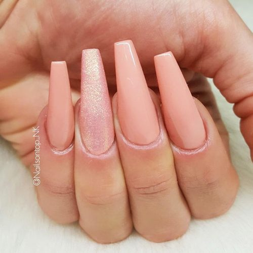 Gel Nails Designs for a Coffin Shape Picture 2