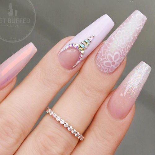 Gel Nails Designs for a Coffin Shape Picture 6
