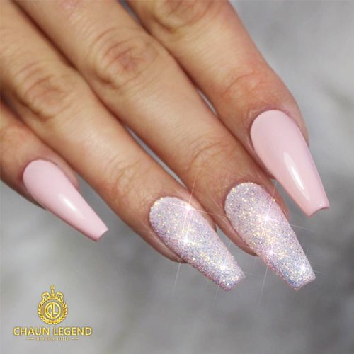 Gel Nails Designs for a Coffin Shape Picture 5
