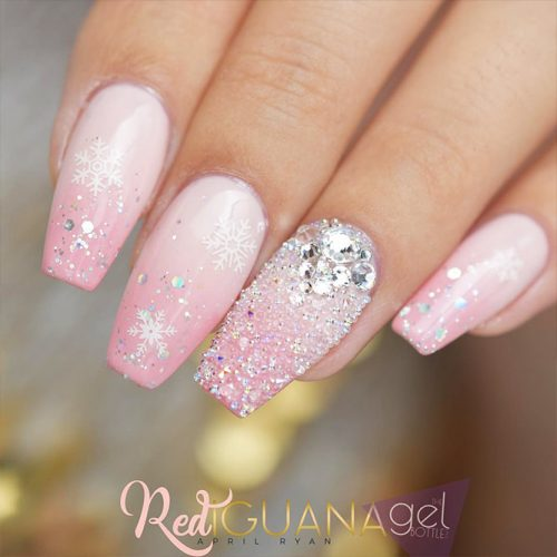 Gel Nails Designs for a Coffin Shape Picture 4