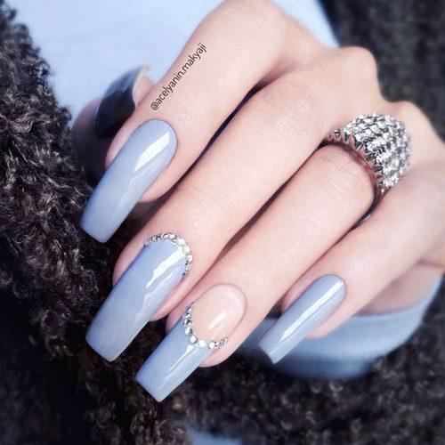 Square Shape Gel Nails Picture 5