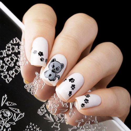 Square Shape Gel Nails Picture 2