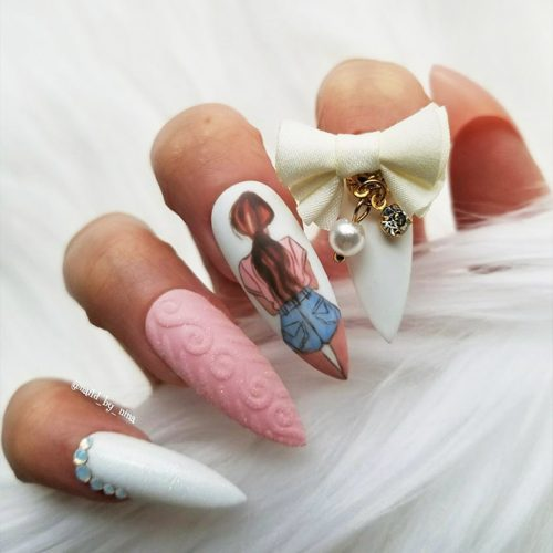 Stiletto Shape Gel Nails Ideas Picture 5