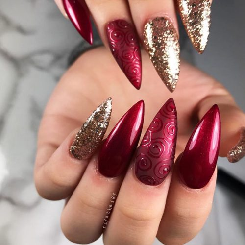 Stiletto Shape Gel Nails Ideas Picture 4
