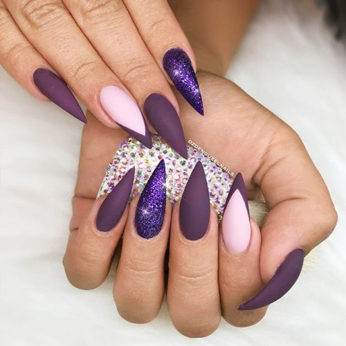 Stiletto Shape Gel Nails Ideas Picture 1