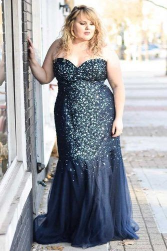 Semi-Sweetheart Midnight Blue Prom Dress #crystals #maxidress