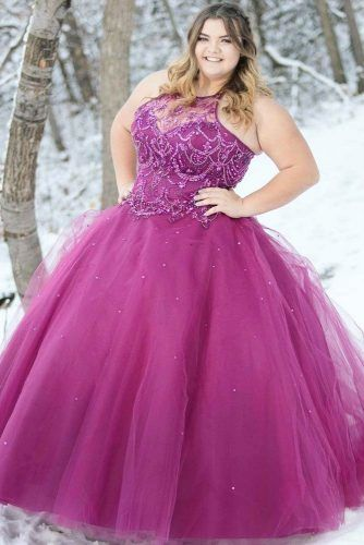 Purple Ball Gown Prom Dress Design #ballgown