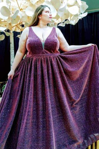 Purple Glitter A-line Prom Dress #alinedress