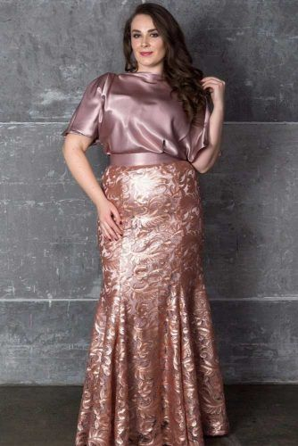 Rose Gold Maxi Prom Dress Design #rosegolddress