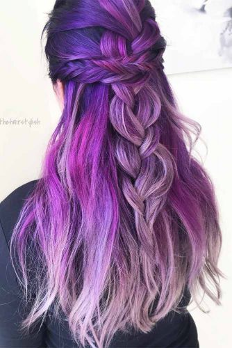 Wonderful Hairstyles with Purple Hair Picture 6