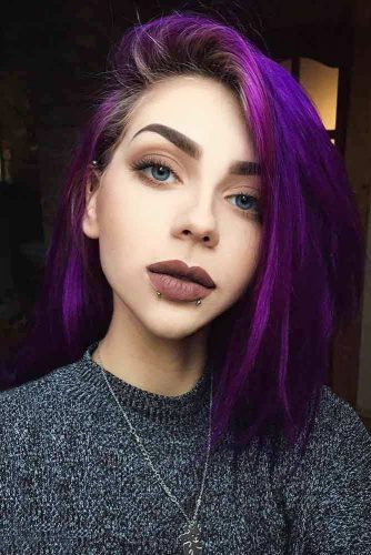 Short and Medium Length Purple Hair Picture 3
