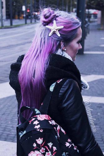 Wonderful Hairstyles with Purple Hair Picture 4