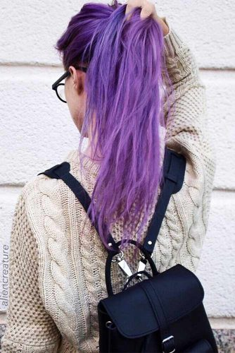 Long Purple Hair Looks Picture 1