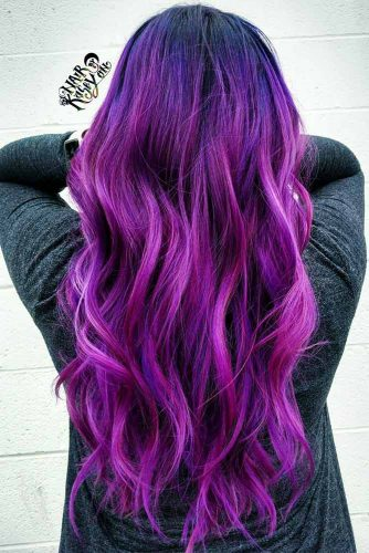 Long Purple Hair Looks Picture 3